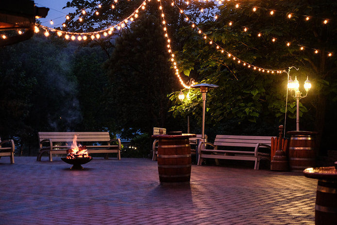 Outdoor Space With Patio Lights, Outdoor Patio Light