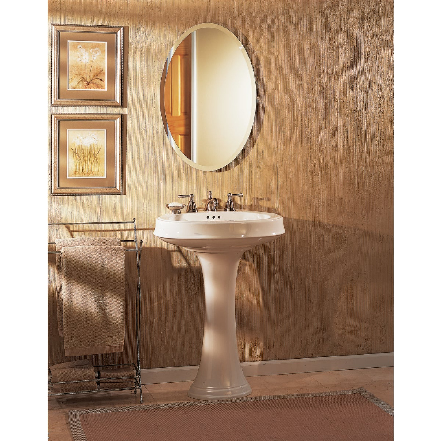 Zenith Frameless Beveled 21 In W X 31 In H X 4 In D Single Mirror Surface Mount Oval Medicine Cabinet Do It Best World S Largest Hardware Store