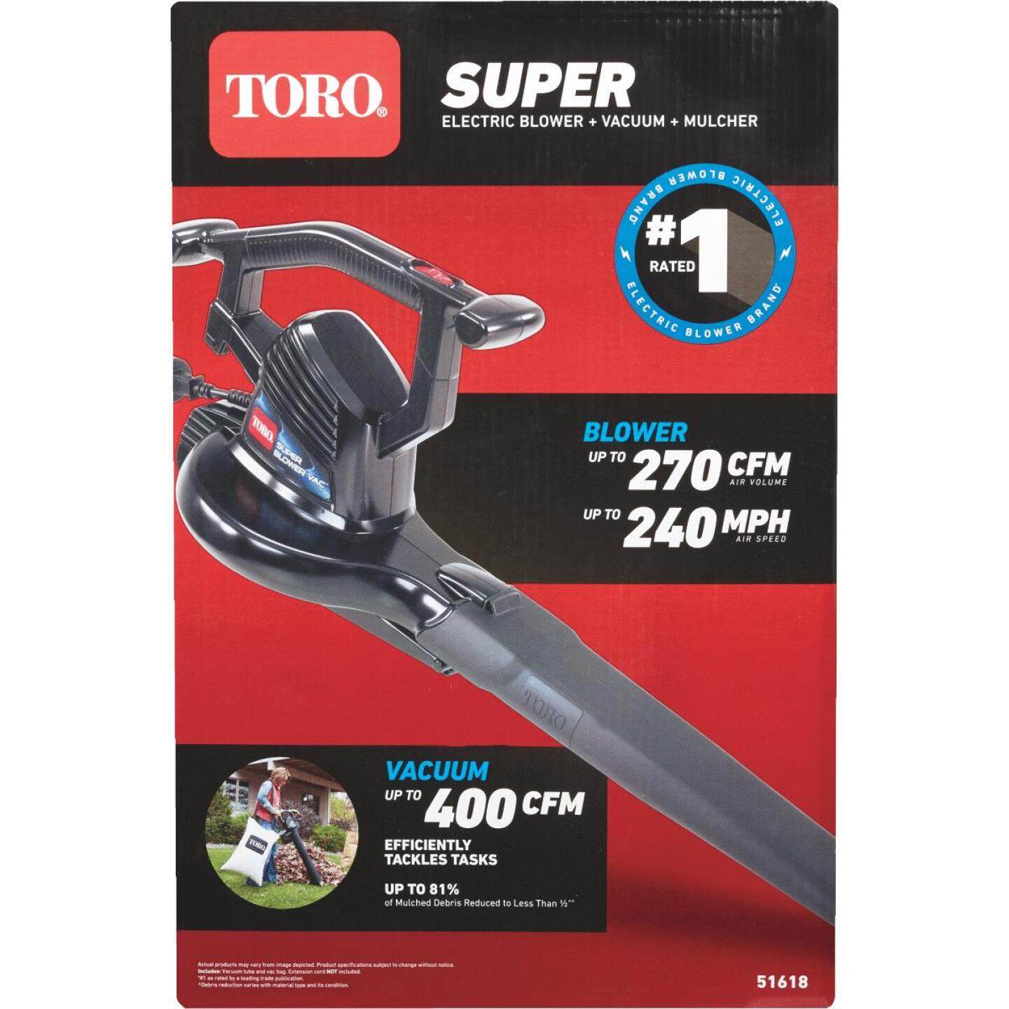 Toro Super 230 Mph 390 Cfm 12 Amp Electric Blower Vacuum Mulcher Do It Best World S Largest Hardware Store