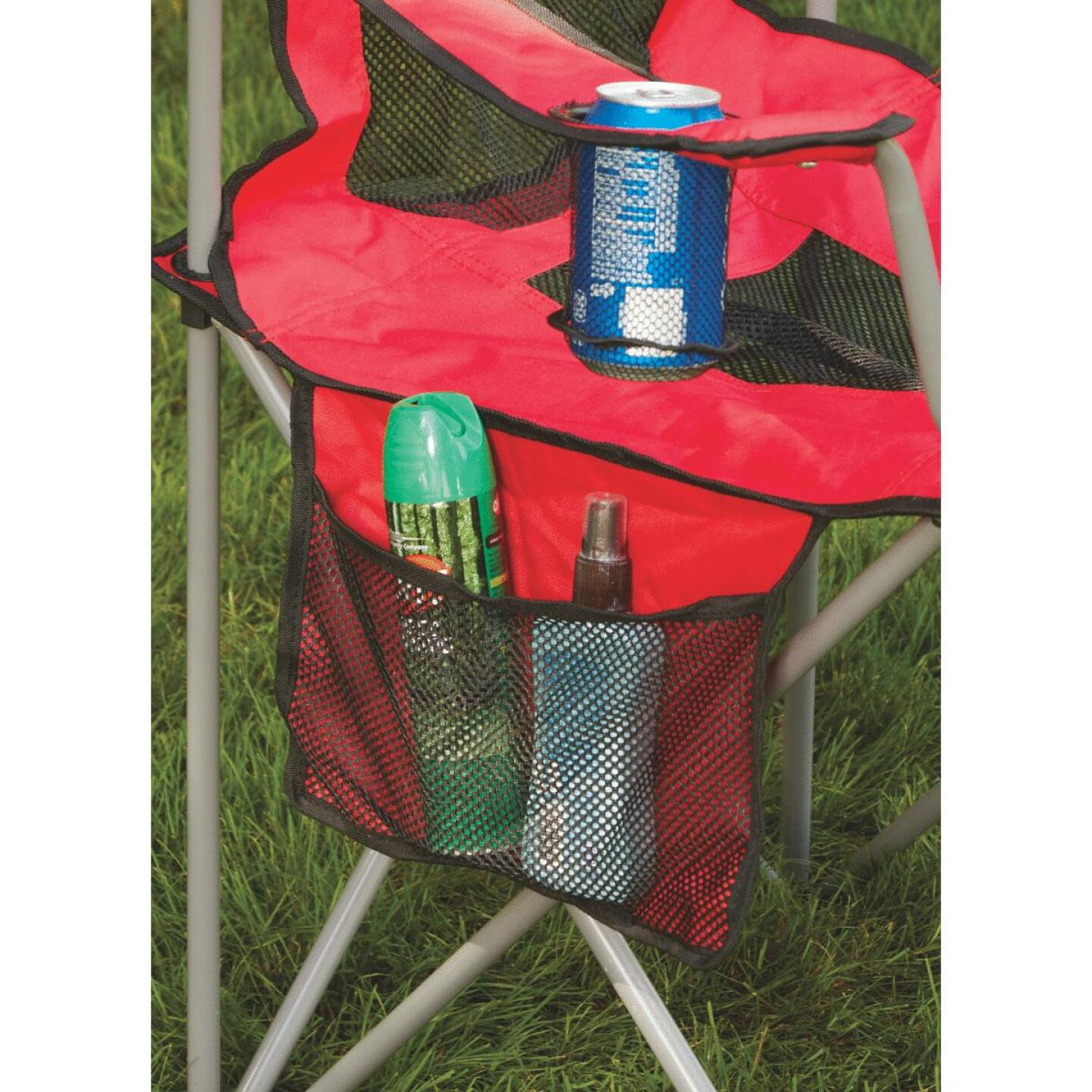 Outdoor Expressions Red Polyester Mesh Folding Chair Do